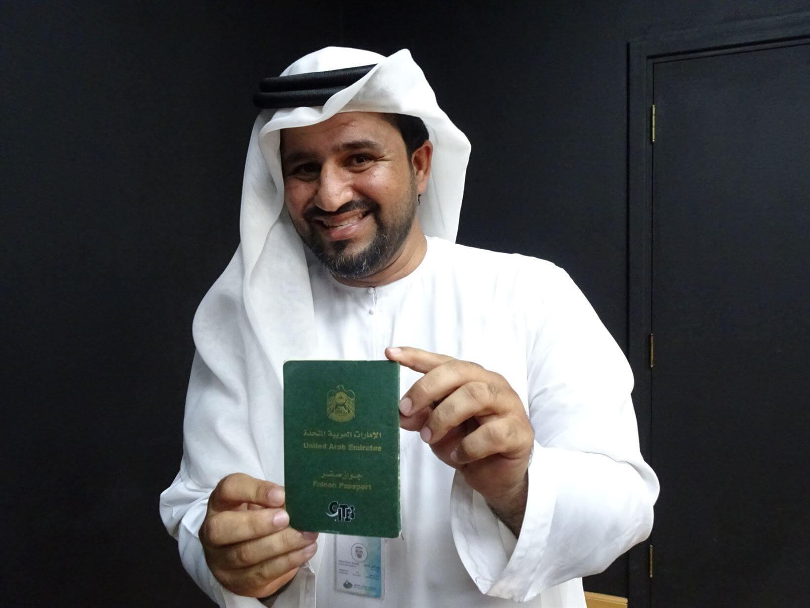 Passaporte de falcão