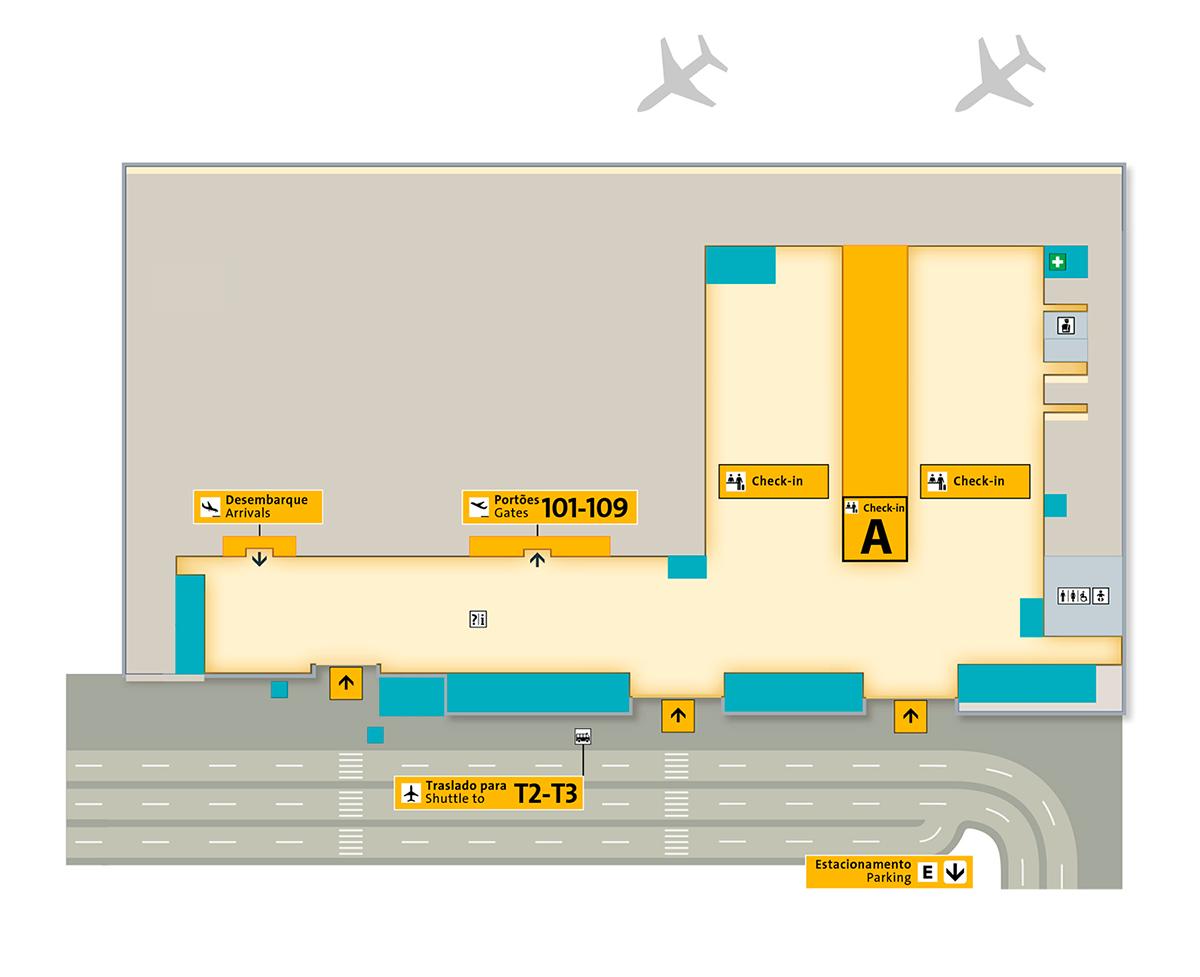 aeroporto de guarulhos terminal 1