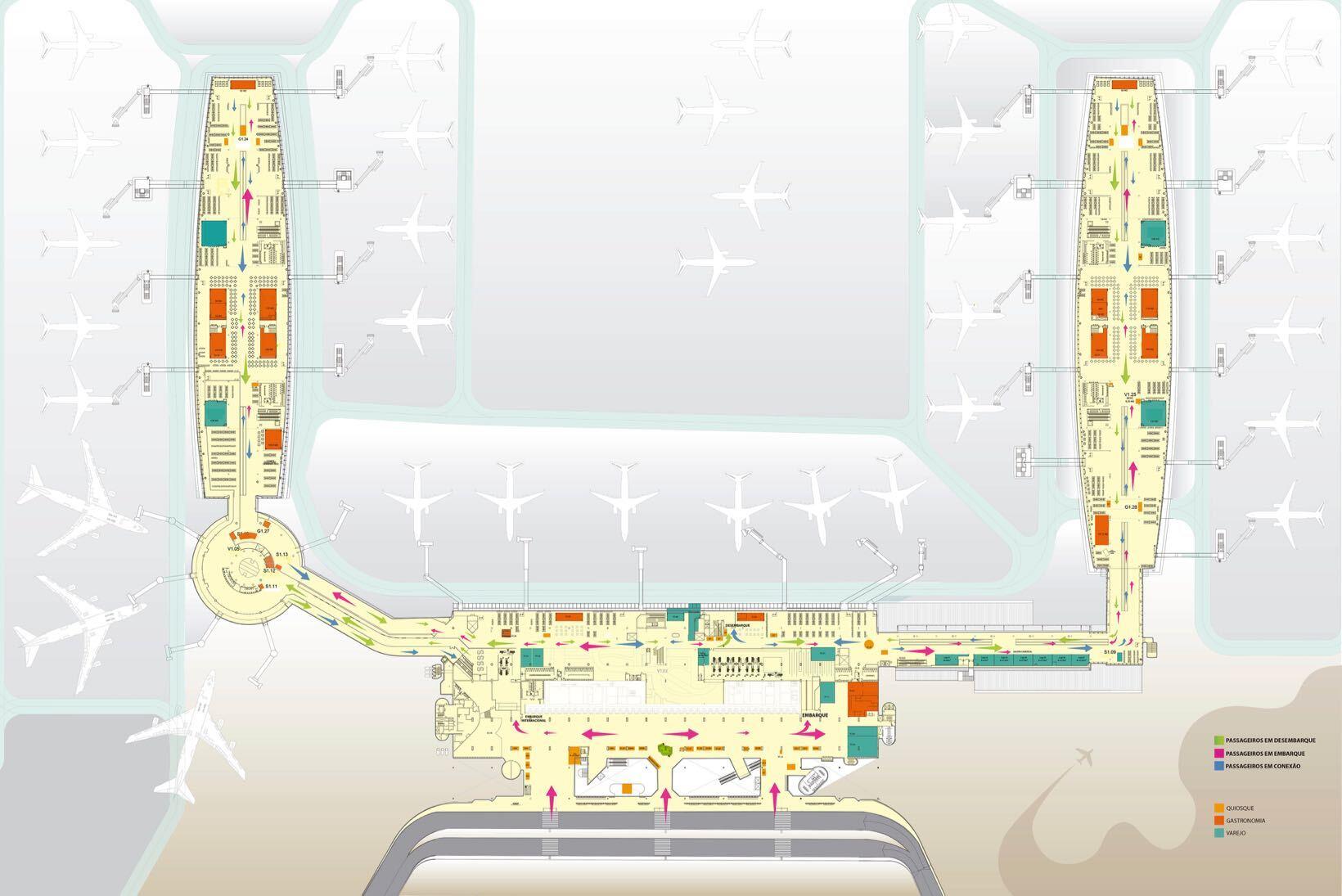 mapa aeroporto brasilia