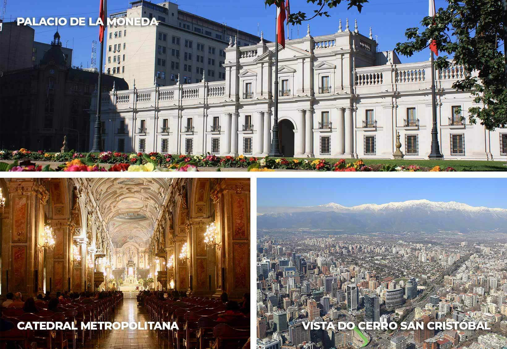 Pontos turísticos de Santiago