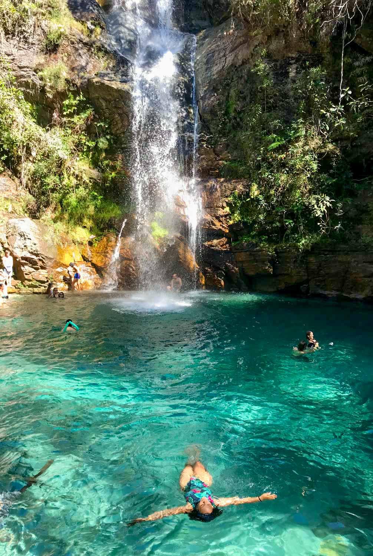 Cachoeira Santa Barbara Chapada dos Veadeiros
