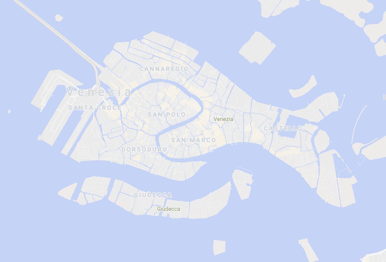 mapa veneza bairros