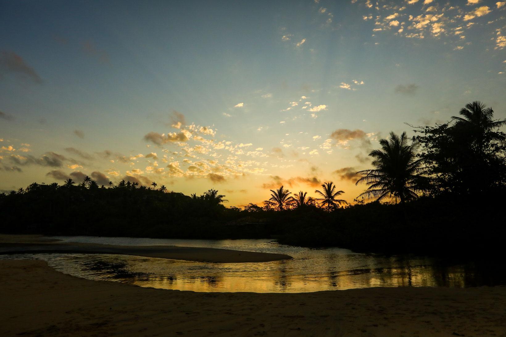 Praia do Espelho pôr do sol