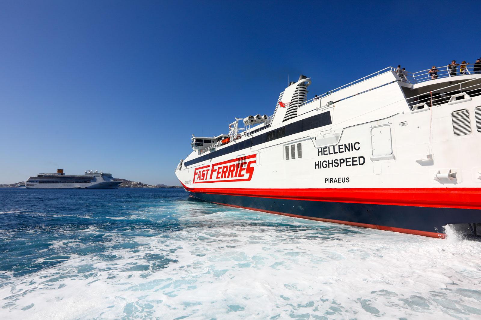 Ferry de Mykonos para Santorini