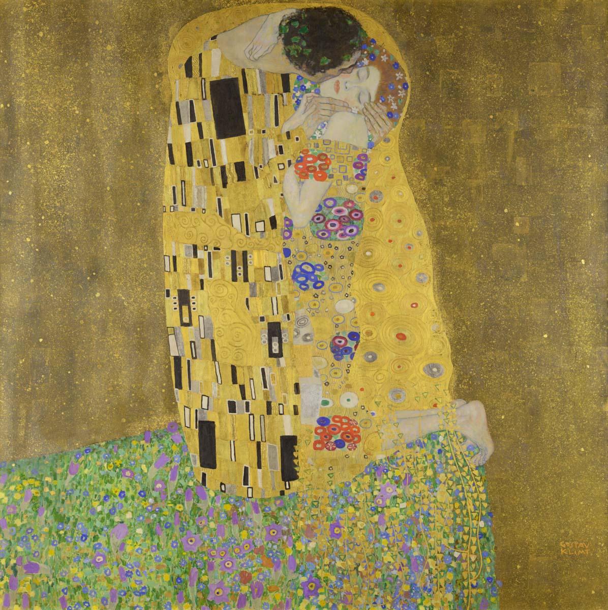O Beijo é a obra mais famosa do pintor austríaco Gustav Klimt