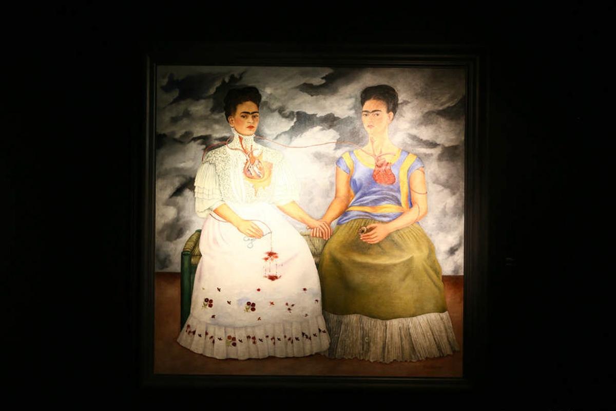 As duas Fridas, obra de arte