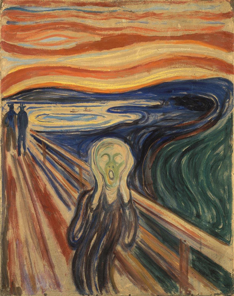 Obra de arte O Grito, de Edvard Munch
