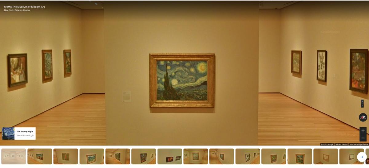 Obra de arte A Noite Estrelada de Van Gogh