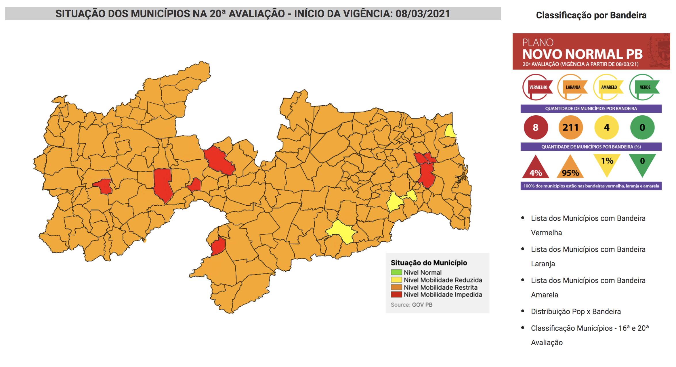 Mapa coronavírus Brasil