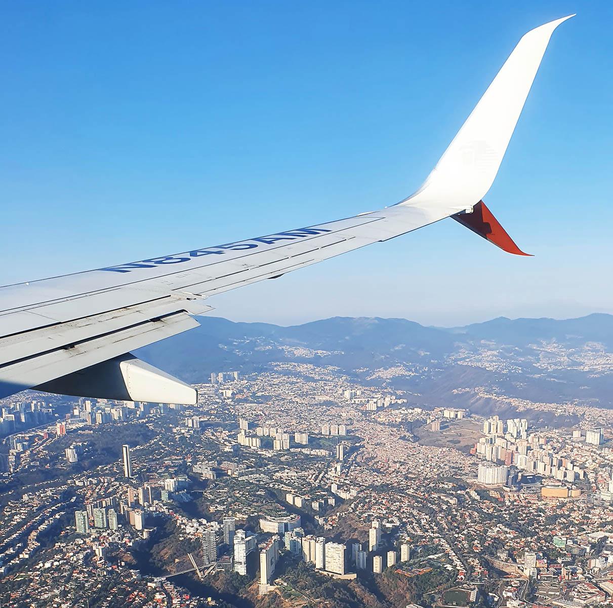 Cidade do México vista do avião