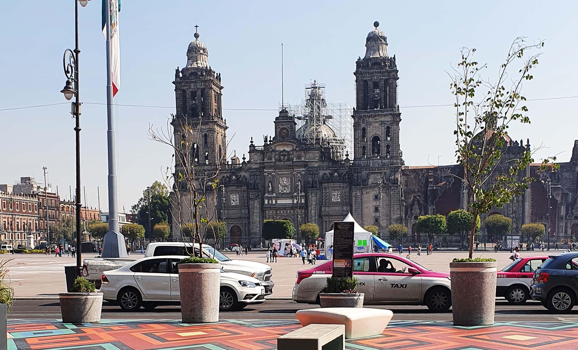 Catedral Metropolitana da Cidade do México e Praça da Constituição - Zócalo