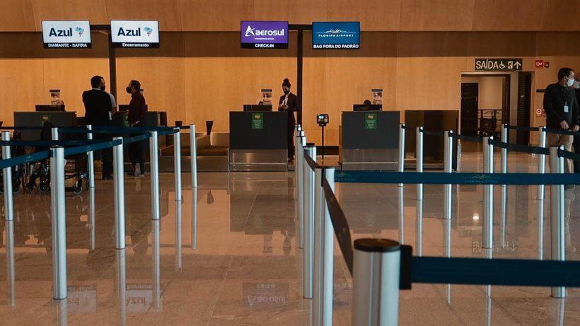 check-in Aerosul Florianópolis