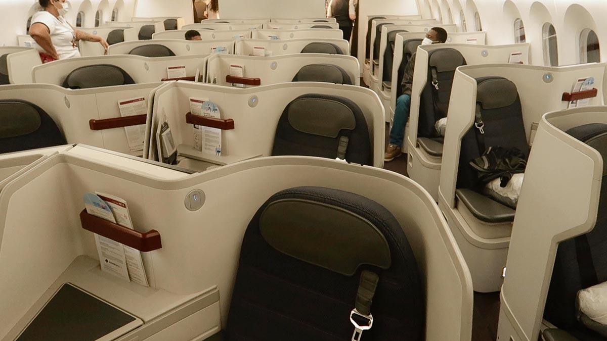 cabine executiva Aeromexico boeing 787