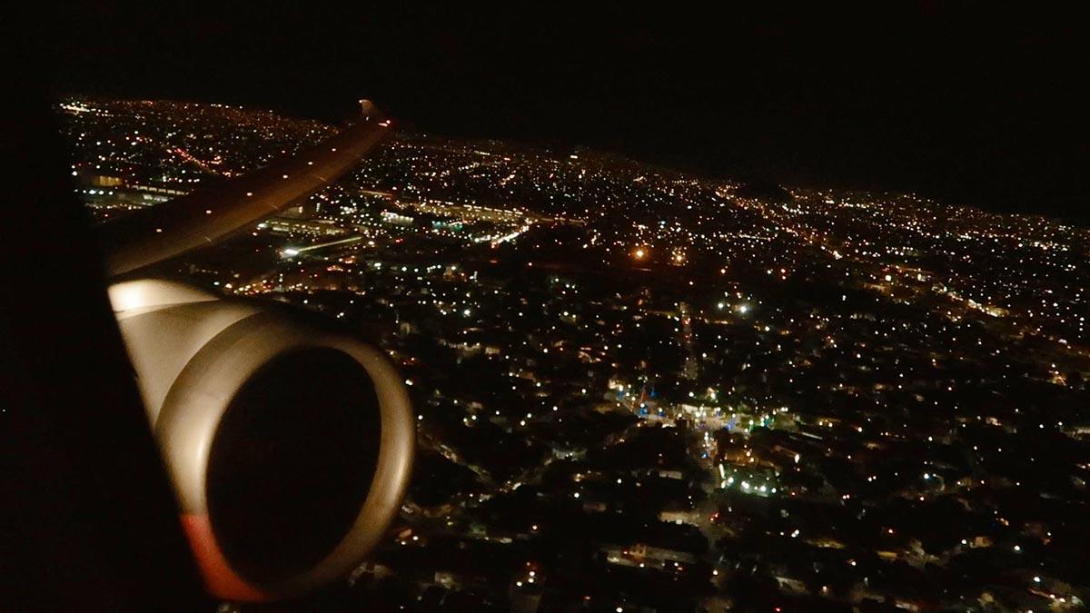 vista aérea Cidade do México noite